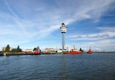 Het gezag van de haven in Gdansk, Polen. Stock Afbeeldingen
