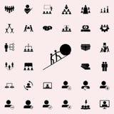 het gezamenlijke opheffen van de bal aan het hoogste pictogram Dat voor Web wordt geplaatst en het mobiele algemene begrip van gr stock illustratie