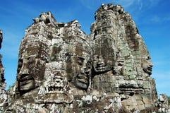 Het gezicht van Angkor Stock Foto's