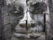 Het gezicht van Bayon Stock Afbeeldingen