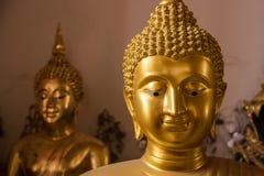 Het gezicht van Boedha Gouden Boedha bij de Tempel van Poramai Yigawat in Nr Royalty-vrije Stock Foto's