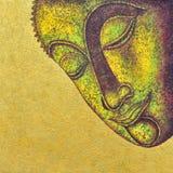 Het gezicht van Boedha het acryl schilderen Stock Afbeelding