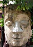 Het gezicht van Boedha van de steen Royalty-vrije Stock Afbeeldingen