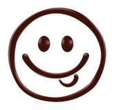 Het gezicht van chocoladesmiley op witte achtergrond vector illustratie