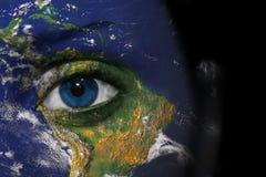 Het gezicht van de aarde Stock Fotografie