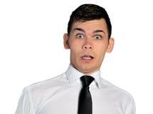 Het gezicht van de bedrijfsmensenvrees Stock Foto