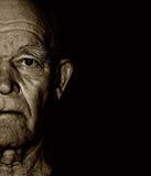 Het gezicht van de bejaarde Stock Foto