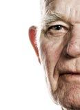 Het gezicht van de bejaarde Stock Fotografie