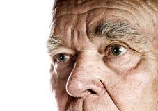 Het gezicht van de bejaarde Royalty-vrije Stock Afbeelding