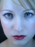 Het gezicht van de close-up famale Royalty-vrije Stock Afbeeldingen