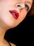 Het gezicht van de close-up famale Stock Afbeeldingen