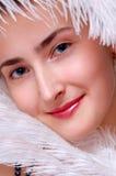Het gezicht van de close-up van het meisje Royalty-vrije Stock Foto