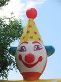 Het gezicht van de clown Stock Afbeelding