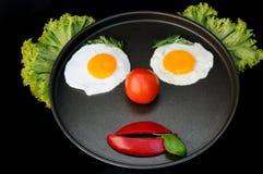Het gezicht van de clown Stock Foto