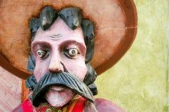 Het gezicht van de cowboy stock afbeelding