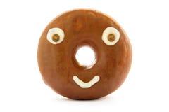 Het gezicht van de doughnut royalty-vrije stock afbeeldingen