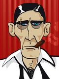 Het gezicht van de gangster met litteken Royalty-vrije Stock Foto