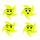 Het gezicht van de glimlach Stock Foto