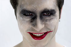 Het gezicht van de joker Stock Afbeelding