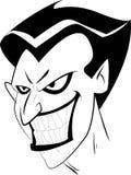 Het gezicht van de joker Stock Foto