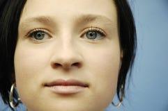 Het gezicht van de jonge vrouw Royalty-vrije Stock Afbeeldingen
