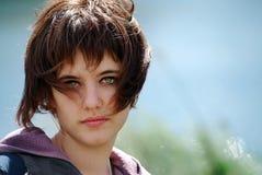 Het gezicht van de jonge vrouw royalty-vrije stock afbeelding