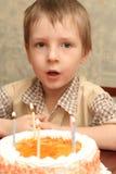 Het gezicht van de jongen stock afbeelding