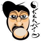 Het gezicht van de karate Stock Afbeeldingen