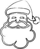 Het gezicht van de Kerstman Royalty-vrije Stock Afbeeldingen
