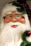 Het gezicht van de kerstman Stock Foto