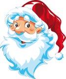 Het Gezicht van de Kerstman Stock Afbeelding
