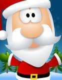 Het Gezicht van de Kerstman van het beeldverhaal royalty-vrije illustratie