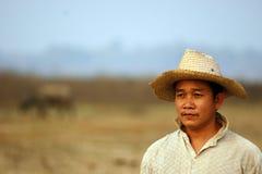 Het gezicht van de landbouwer Stock Fotografie