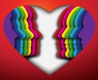 Het Gezicht van de liefde vector illustratie