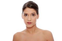 Het gezicht van de mooie vrouw Stock Foto's