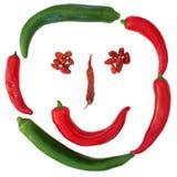 Het gezicht van de paprika royalty-vrije stock afbeelding