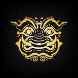 Het gezicht van de Reus van Thailand, vector illustratie