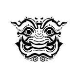 Het gezicht van de Reus van Thailand, royalty-vrije illustratie