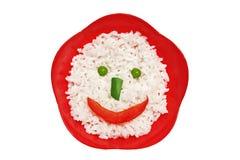 Het gezicht van de rijst royalty-vrije stock foto's