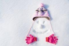 Het gezicht van de sneeuw Stock Foto