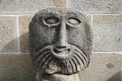 Het gezicht van de steen Stock Foto's