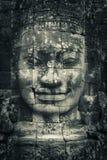 Het gezicht van de steen in tempel Bayon Royalty-vrije Stock Afbeeldingen