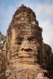 Het gezicht van de steen van Boedha, Angkor, Kambodja Royalty-vrije Stock Afbeelding