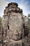 Het gezicht van de steen van Boedha, Angkor, Kambodja Royalty-vrije Stock Afbeeldingen