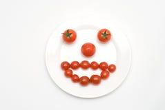 Het gezicht van de tomaat Stock Afbeelding
