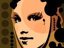 Het gezicht van de vrouw stock illustratie