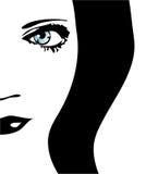 Het gezicht van de vrouw. royalty-vrije illustratie