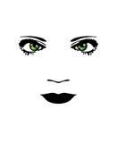 Het gezicht van de vrouw. stock illustratie