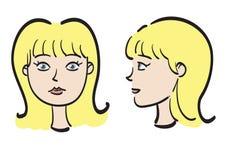Het gezicht van de vrouw Stock Foto