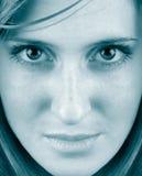 Het gezicht van de vrouw Stock Afbeeldingen